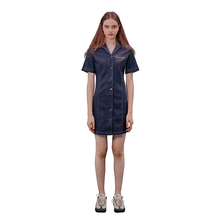C DENIM SHIRT DRESS