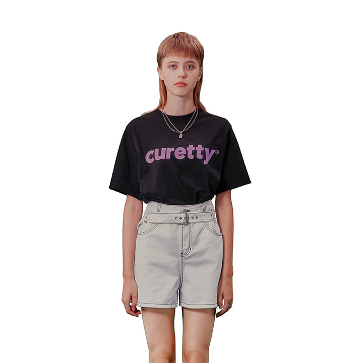 C CURETTY LOGO T-SHIRT_BLACK