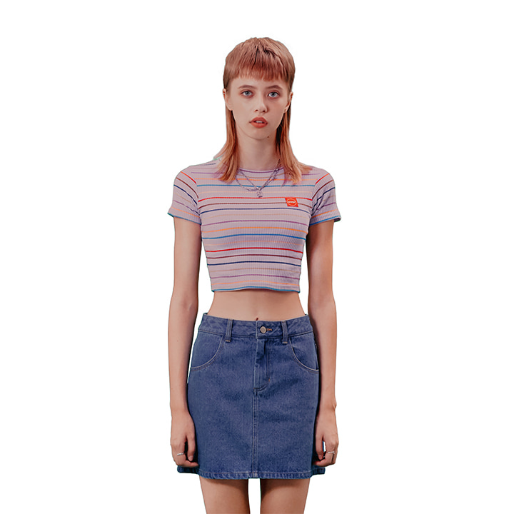 C STRIPE CROP T-SHIRT_LIGHTVIOLET