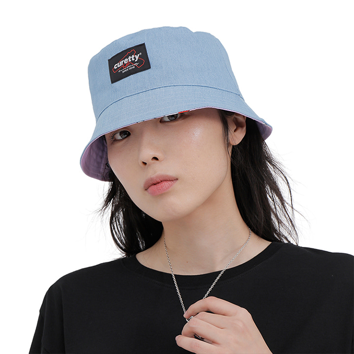 C REVERSIBLE BUCKET HAT_BLUE